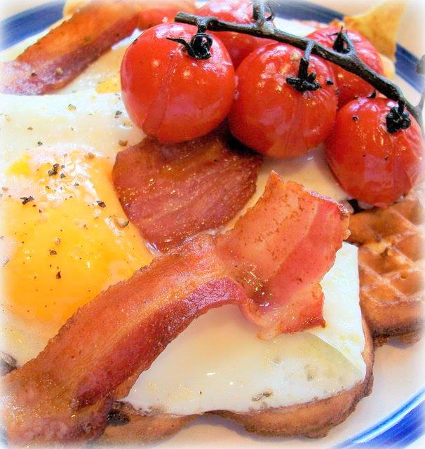 Big Breakfast Supper Waffles -Pancake Day Recipe - Marie Rayner