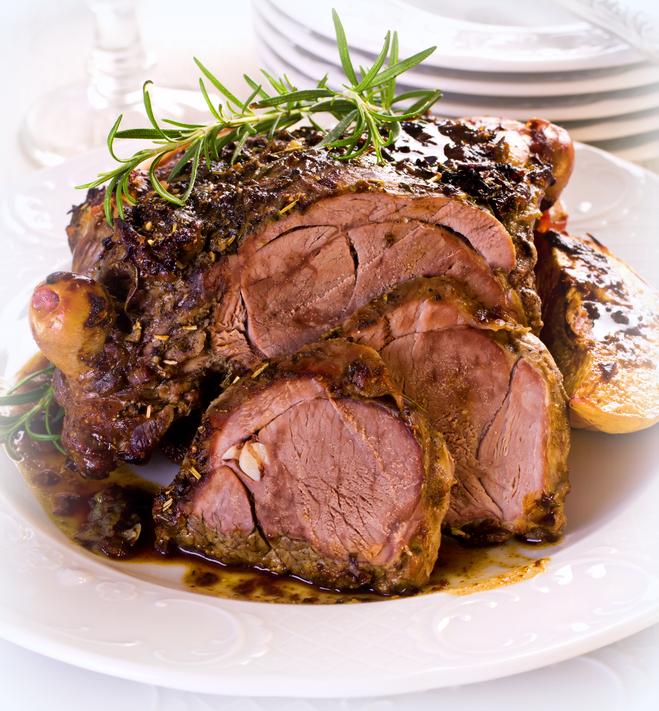 Roasted Leg of lamb with Lemonand Thyme - Easter Recipe - Marie Rayner